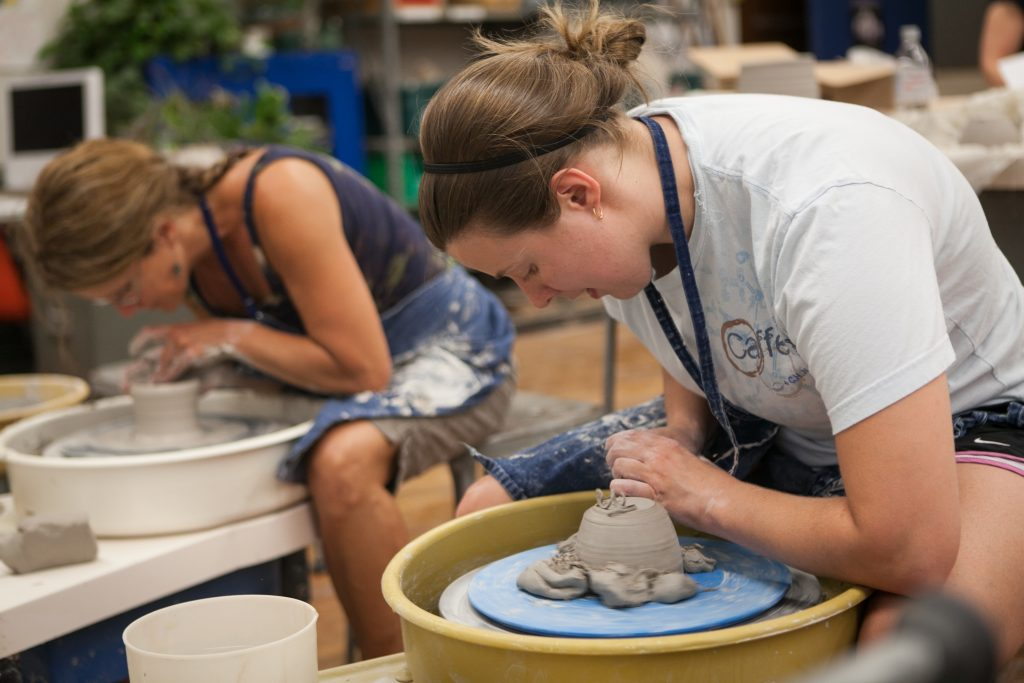 Pottery class at Brookline Adult Education