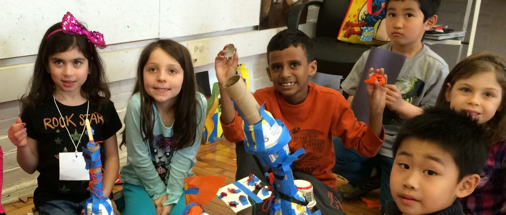 Children in a Brookline SmartPrograms class